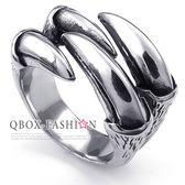 《 QBOX 》FASHION 飾品【R10023738】精緻個性狩獵鷹爪鑄造鈦鋼戒指/戒環