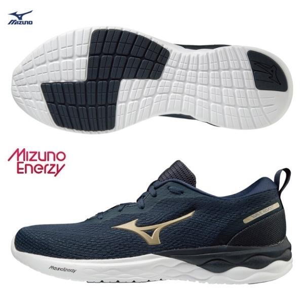 MIZUNO WAVE REVOLT 男鞋 慢跑 休閒 ENERZY中底 回彈 藍【運動世界】J1GC208147