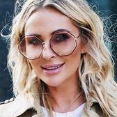 Chloe 水銀太陽眼鏡 CE132S 211 (琥珀金-漸層粉水銀) 歐美多邊造型款 水銀墨鏡 # 金橘眼鏡