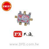 PX大通 GSD-74 四路分配器(鍍金) 刷卡OK/含稅