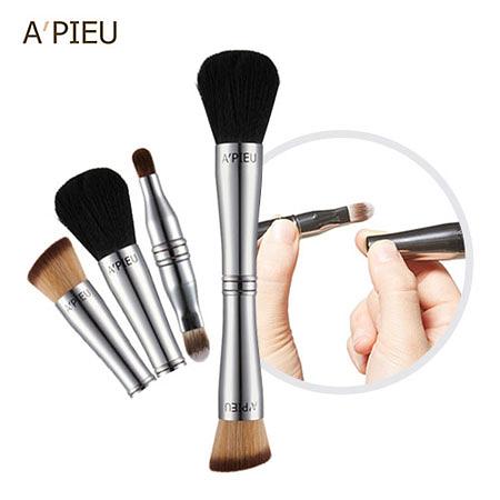 韓國 A'PIEU 四合一彩妝刷具 刷子 粉底刷 蜜粉刷 眼影刷 唇刷 遮瑕刷 化妝 彩妝 刷具組