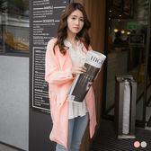 OrangeBear《EA1409》腰綁帶側拉鍊造型翻領寬鬆風衣外套.3色--適 2L~5L