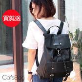後背包 -韓防潑水高質感純調大容量馬蹄勾扣後背包-Catsbag-08153957-2