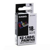 ※亮點OA文具館※CASIO 標籤機專用色帶-18mm 白底黑字XR-18WE1