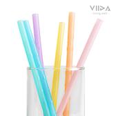 VIIDA Joy 環保矽膠吸管(6入) 鉑金矽膠 果凍吸管 1869 好娃娃