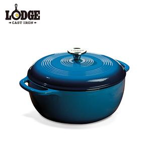 【美國Lodge】鑄鐵琺瑯鍋6 Q/5.7公升(海洋藍)