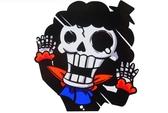 海賊王 布魯克 骷髏 撞玻璃 超KUSO 搞笑貼 爆炸貼 裝飾貼 大張規格 安全帽貼 車身貼