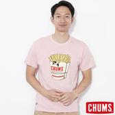 CHUMS 日本 男 Booby薯條短袖圓領T恤 粉紅 CH011213R059
