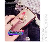 蘋果 iphone 6 6plus奢華水鑽戒指電鍍手機保護套 戒指 支架手機殼 保護殼 防摔 軟殼 tpu