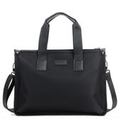 米蘭 牛津布公文包男商務橫款男包手提包帆布休閒男士包包大容量電腦包