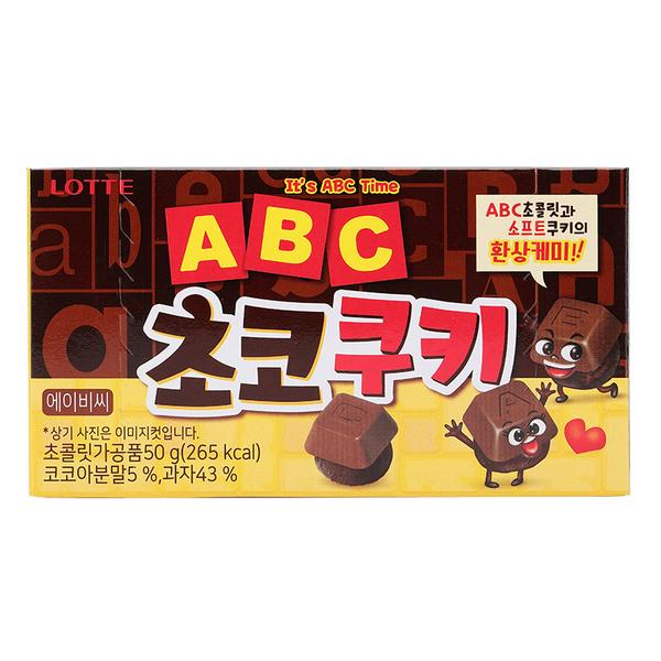 韓國 LOTTE 樂天字母巧克力餅乾 50g【庫奇小舖】