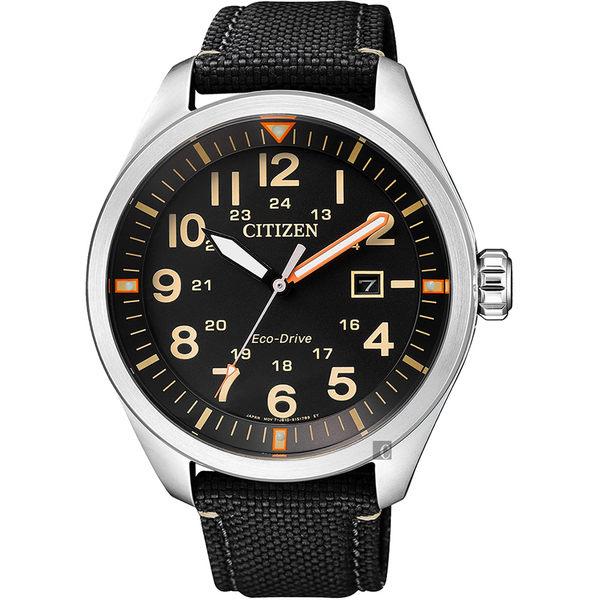【CITIZEN 星辰】Eco-Drive 光動能飛行員手錶-黑/43mm AW5000-24E