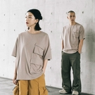 Queen Shop【01038604】立體口袋造型素色寬版上衣 四色售1/2*現+預*