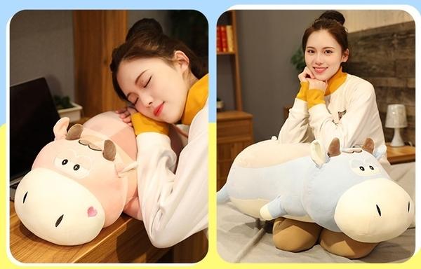 【85公分】乳牛玩偶 小牛抱枕 奶牛娃娃 聖誕節交換禮物 生日禮物 兒童節