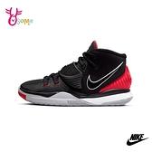 NIKE籃球鞋 大童鞋 男童籃球鞋 女鞋 高筒籃球鞋 運動鞋 避震 KYRIE 6 GS Q7060#黑紅◆OSOME奧森鞋業