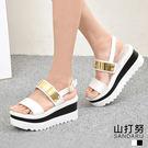 厚底涼鞋 造型金屬片鬆糕涼鞋- 山打努SANDARU【2465908#48】