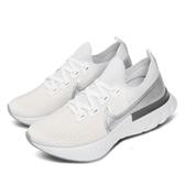 Nike 慢跑鞋 Wmns React Infinity Run FK 白 銀 女鞋 運動鞋 襪套式 【ACS】 CD4372-101