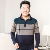 針織衫-翻領冬季舒適保暖中老年男毛衣3色73qf47【巴黎精品】