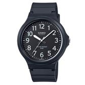 CASIO 大錶面簡約文青休閒錶-黑x白(MW-240-1B)