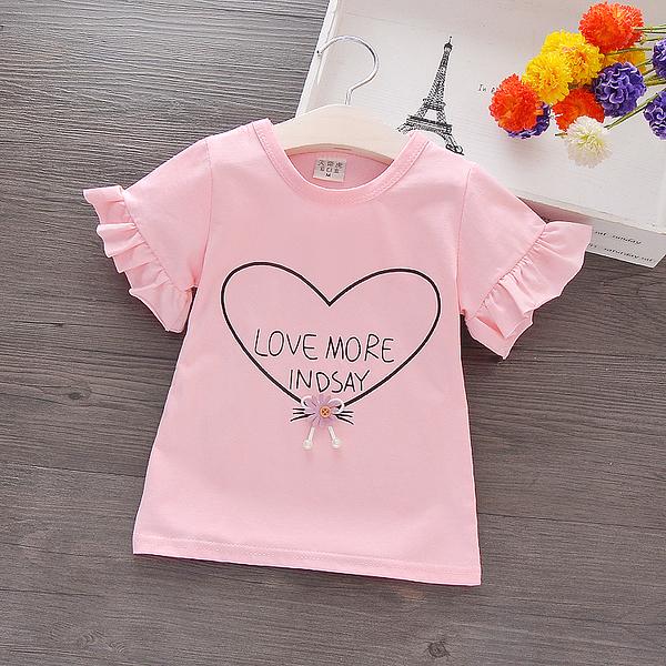 女童短袖T恤童裝寶寶半袖兒童上衣中小童夏裝小童體恤純棉打底衫 店慶降價