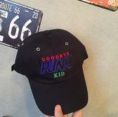 字母刺繡彎檐棒球帽鴨舌帽