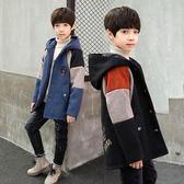 兒童外套男秋冬洋氣潮男童加厚秋裝中大童加絨12童裝15歲