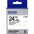 LK-6WBN EPSON 標籤帶 (白底黑字/24mm) C53S655401