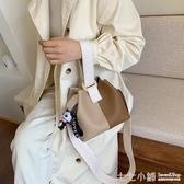 秋冬超火水桶包包女2020流行新款韓版百搭單肩手提時尚斜挎包