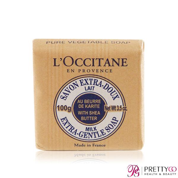 L'OCCITANE 歐舒丹 乳油木牛奶植物皂(100g)-百貨公司貨【美麗購】
