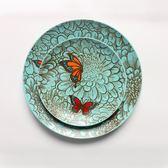 陶瓷盤子創意個性手繪田園風