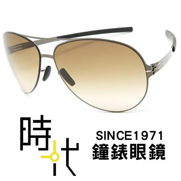【台南 時代眼鏡 ic! berlin】raf s. gun metal 德國薄鋼墨鏡太陽眼鏡 嘉晏公司貨可上網登錄保固
