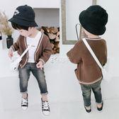 男童毛衣 寶寶針織衫男1-3歲開衫新款秋薄男童披肩外套男孩毛衣開衫 俏腳丫