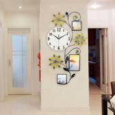 歐式相框鐘錶掛鐘客廳創意時尚時鐘現代簡約個性裝飾靜音石英鐘 限時八九折