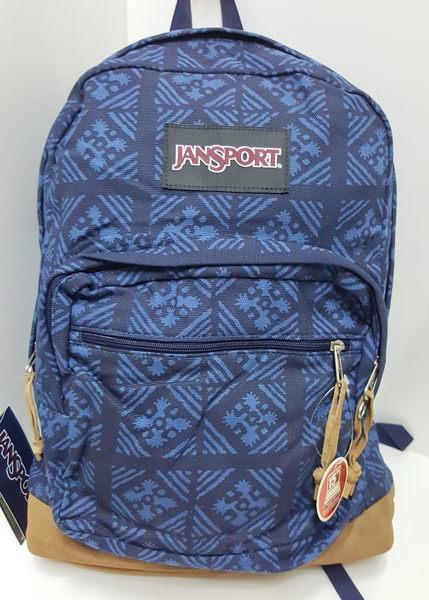 JANSPORT 校園後背包 麂皮底系列-暗礦藍-JS43949(15吋筆電保護層)