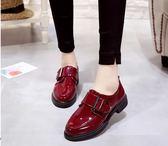 娃娃鞋 腳蹬平跟軟底黑色原宿chic單鞋ins加絨小皮鞋女復古 米蘭潮鞋館