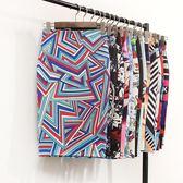 【免運】歐美出口夏季新款包臀中長款H型個性印花高腰正韓半身裙子女士大碼
