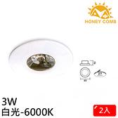 HONEY COMB 迷你型LED 3W 崁燈 2入一組TK3001-6 白光