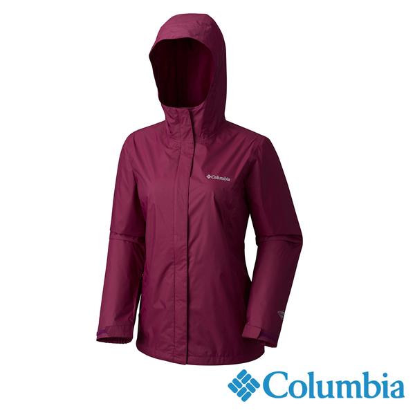 Columbia 女 OT單件式防水外套-暗紫色 URR24360DL【GO WILD】