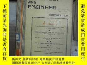 二手書博民逛書店THE罕見ARCHITECT AND ENGINEER 建築師和工程師 1934 10Y180897