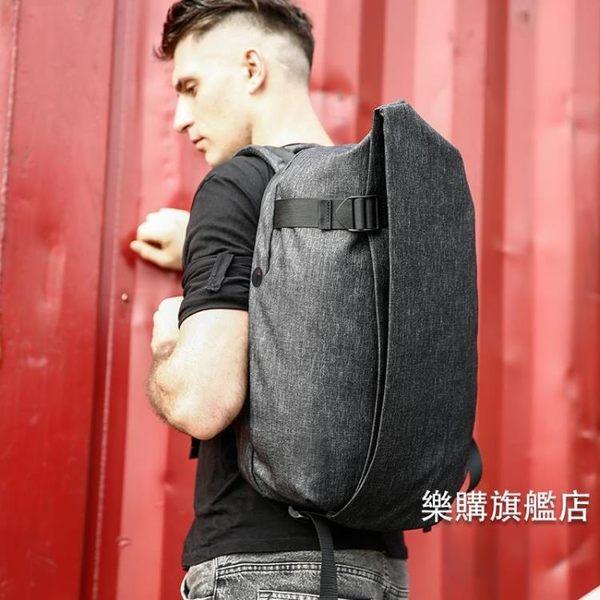 全館88折特惠-男士後背包青年背包多功能防盜電腦包休閒書包時尚潮流簡約旅行包後背包wy