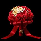手捧花新娘結婚仿真花中式婚禮手捧花秀禾服婚紗攝影花束婚慶用品 幸福第一站