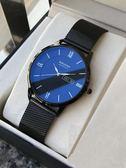 刻字手錶男士女非機械表石英韓版超薄學生概念簡約情侶手錶一對潮     名購居家