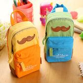 得力書包造型多功能筆袋大容量小學生初中生用可愛男女文具袋