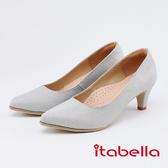 itabella .低調奢華閃耀尖頭高跟鞋0228 85 銀色