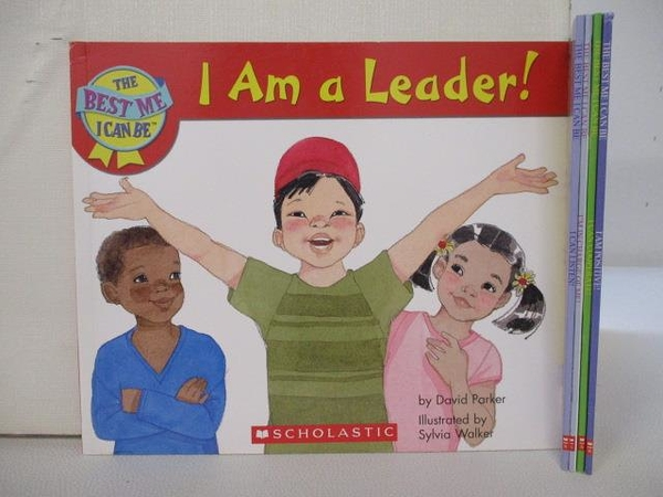 【書寶二手書T1/少年童書_GYK】I am a Leader_I am Positive_I Can Cooperate等_5本合售