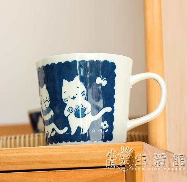 制釉下彩陶瓷馬克杯可愛貓咪水杯進口卡通家用杯子咖啡杯 蘇菲小店