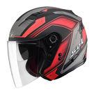SOL SO-7 星際 平黑/紅 3/4罩安全帽 SO-7 OPEN FACE HELMET