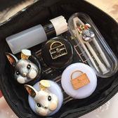 眼镜盒 隱形眼鏡可愛兔子護理盒