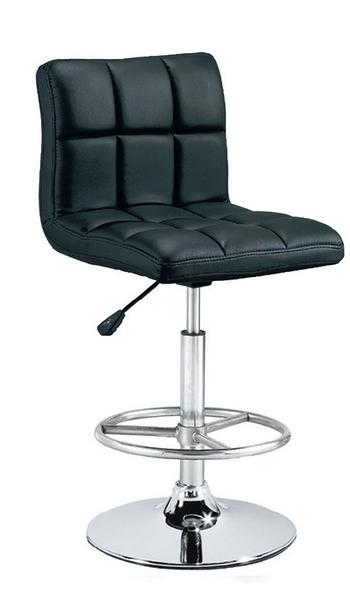 HY-809-1   3013吧檯椅/造型椅-方格黑皮