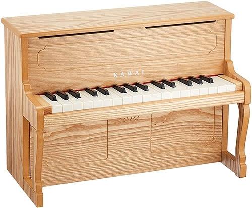 KAWAI【日本代購】河合 迷你立式鋼琴 兒童鋼琴 32鍵 日本製 1154-木紋色